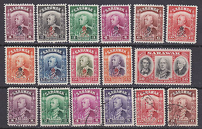 Sarawak 1934-47 collection of 17  mint hinged and used