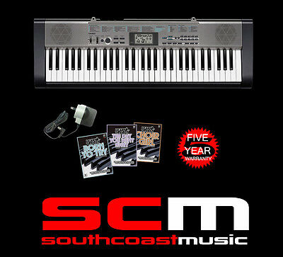 CASIO CTK1300 61 KEY PORTABLE KEYBOARD & AC ADAPTOR & 3 DVDs FREE DELIVERY NEW!
