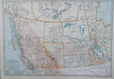 Map of British Columbia & North West Territories. 1902 Original