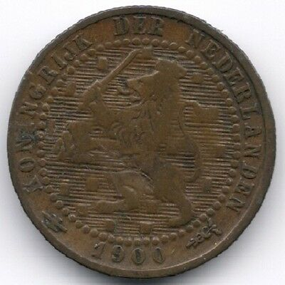 Netherlands : 1 Cent 1900 Large Date