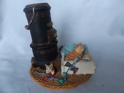 1994 Wood Stove Cats By Peter Fagan Hand Signed By Peter - Rare