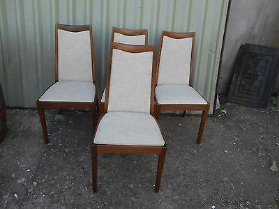 4 x Clean Condition QUALITY G-PLAN GPLAN Dining Room CHAIRS Fabric 93cms KITCHEN