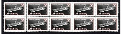 Uss Oriskany Aircraft Carrier Strip Of 10 Mint Stamps 2
