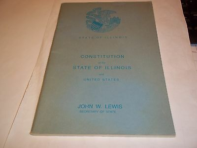 State Of Illinois Book Constitution Of The State 2/1971 85 Pages And It Is Mint