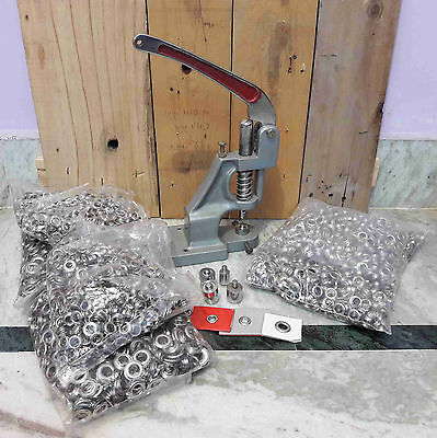 Hand Press Machine For Fixing Eyelets Garments And Stationary With 3 Dies Craft