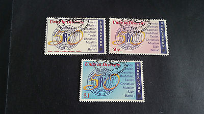 Singapore 1999 Sg 975-977 50Th Anniv Of Inter-Religious , Fine Used