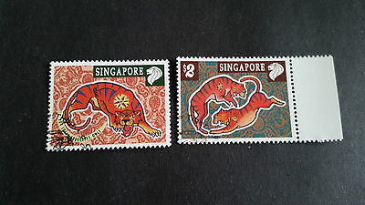 Singapore 1998 Sg 914-915 Chinese New Year , Fine Used