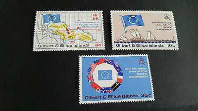 Gilbert & Ellice Islands 1972 Sg 196-198 25Th Anniv Of South Pacific Commissi Mh