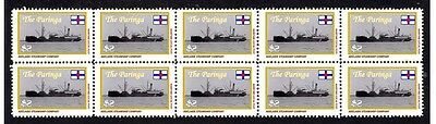 Paringa Adelaide Steamship Co Strip Of 10 Mint Stamps