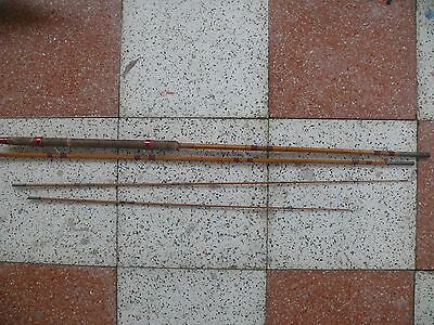 Four piece Antique split cane 10ft-6in -11ft-00in fishing rod
