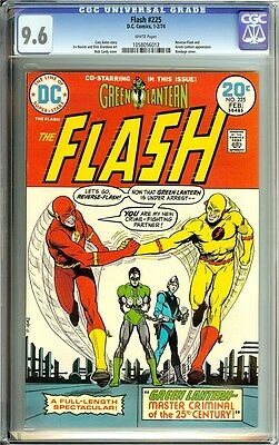 Flash #225 CGC 9.6! Reverse-Flash and Green Lantern appearance!!! White Pages!!!