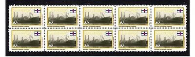 Echunga Adelaide Steamship Co Strip Of 10 Mint Stamps