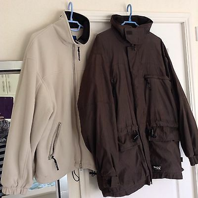 TOGGI Jacket Coat Chocolate Brown Size Large 2 In 1 Equestrian
