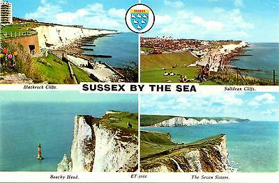 Sussex by the Sea - Multiview - Postcard 1980