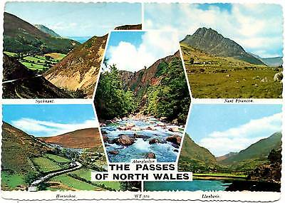 The Passes of North Wales - Wales - Multiview - Bamforth Postcard 1984