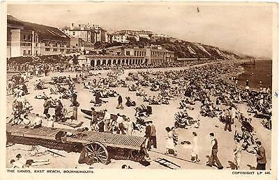 The Sands - East Beach - Bournemourth - Dorset - Old Postcard 1950's