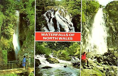Waterfalls of North Wales - Wales - Multiview - Dennis Postcard 1985