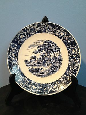 Blue and White Asian Style Vintage Collectible Display Plate Home and Garden
