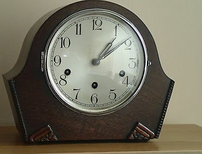 Vintage /antique  westminster chime mantle clock with Haller movement