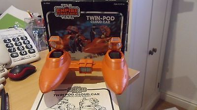 VINTAGE STAR WARS ESB 1980 BOXED TWIN POD CLOUD CAR VEHICLE with instructions