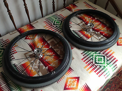 "QUICKIE Wheelchair Wheels SPINERGY 24"" SPOX Hub NATURAL FIT Hand Rims USED"