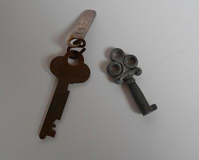 Lot of 2 Vintage Antique Keys, Crafts, Gifts, Weddings