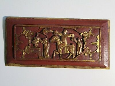 Antique Chinese Carved Wood Antico Bassorilievo Legno Orientale
