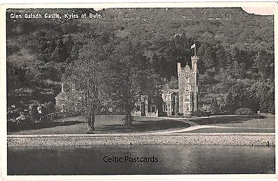 Postcard of Glen Caladh Castle, Kyles of Bute