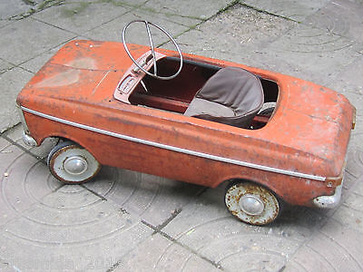 VERY RARE  Vintage Russian Metal Pedal CAR MOSKVICH MOSKVITCH МОСКВИЧ 1978's
