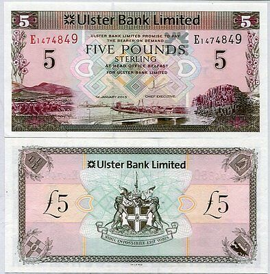 Northern Ireland 5 Pounds 2013 P 340 Ulster Bank Unc