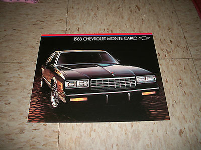 1983 Chevrolet Monte Carlo Dealership sales brochure Chevy
