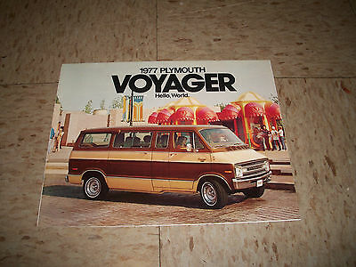 1977 Plymouth Voyager Van Car Dealership Sales Brochure