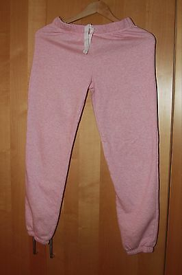 Two pairs of thick cotton mix jogger bottoms - pink and grey - age 12-13 yrs