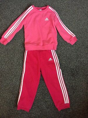 girls adidas tracksuit 2-3years
