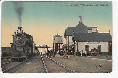 5001. AK G.T.R. Station- Woodstock- Ont. Canada