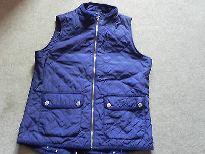 Gap girls body warmer, navy, age 13 XL, nice star design lining
