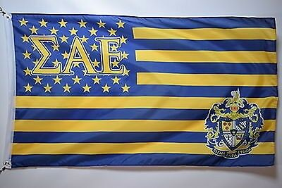 Sigma Alpha Epsilon FraternityGreek College Officially Licensed Banner 3x5 Flag