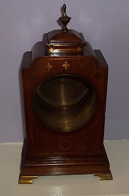 Nice Small Mahogany Inlaid Bracket Clock Case