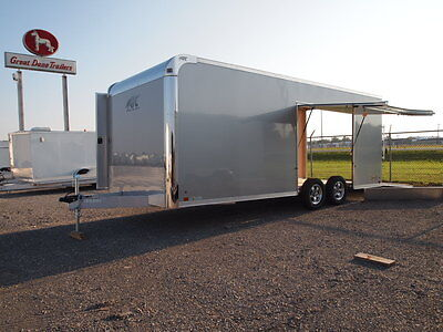 Aluminum Race Trailer - Escape Door - Atc Enclosed Car Hauler Cargo Trailer
