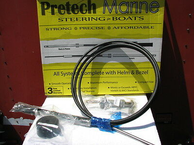 PreTech Teleflex SSC130 13' 13 ft Boat Rack Pinion Steering Cable Helm Kit 14113