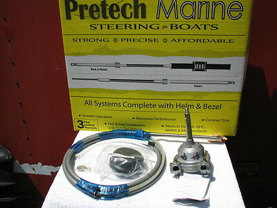 PreTech 14 ft 14' Rotary Steering Cable Helm Kit Replaces Teleflex SSC130 13714
