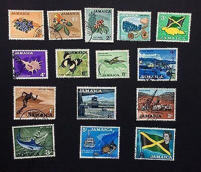 Jamaica 1964 Definitives 15 values Fine Used SG 217-230, 232