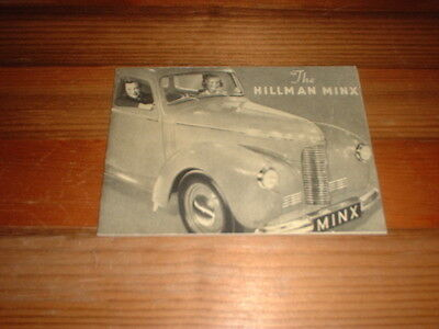 Hillman Minx Sales Brochure 1947 Including Drophead Coupe