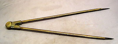 VINTAGE 320mm BRASS DIVIDERS  marked WINTER & SON