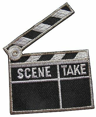 #3584B Movie Film Clapboard Embroidery Iron On Appliqué Patch