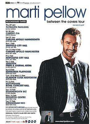 Marti Pellow Between The Covers Tour Resheduled Dates Original  Promo Flyer
