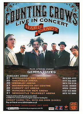 Counting Crows Hard Candy 2003 Uk Tour Original  Promo Flyer