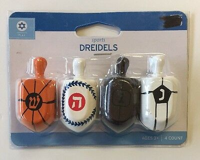 NIP Sports Dreidels Hanukkah Fun Pack Of 4 Festival Of Lights
