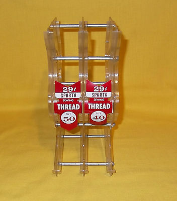 Vintage Sparta Sewing Thread Old Store Counter Display Rack