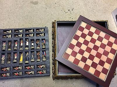 Vintage Chess Set - Battle of Waterloo - English and French Chess Pieces & Board